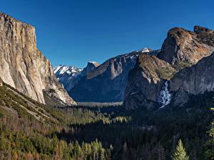 Hintergrundbilder USA Park Gebirge Wälder Landschaftsfotografie Yosemite Felsen Natur