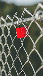 Wallpaper Closeup Padlock Fence Heart