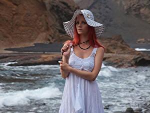 Fonds d'écran Piper Fawn Roux Fille Les robes Chapeau Voir