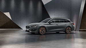 Image Seat Gray Station wagon Side Cupra Leon, Sportstourer, Worldwide, 2020 automobile
