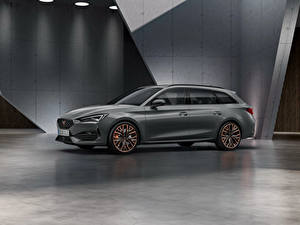 Image Seat Gray Station wagon Side Cupra Leon, Sportstourer, Worldwide, 2020 automobile
