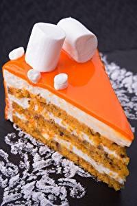 Fotos Törtchen Nachtisch Torte Stück Marshmallow