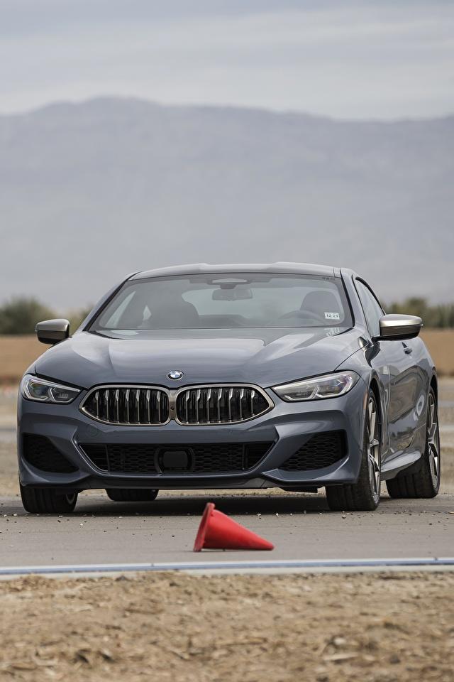 Desktop Hintergrundbilder BMW 2018 8-Series 2019 M850i xDrive 8er G15 Grau Autos 640x960 für Handy graue graues auto automobil