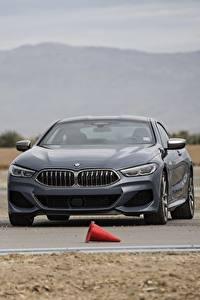 Papel de Parede Desktop BMW Cinza 2018 8-Series 2019 M850i xDrive 8er G15 Carros