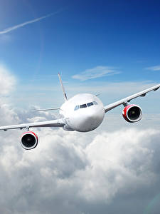 Fotos Flugzeuge Verkehrsflugzeug Himmel Wolke Flug Luftfahrt