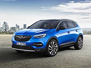 Hintergrundbilder Opel Hellblau Metallisch 2017-18 Grandland X Autos