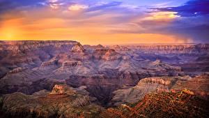 Hintergrundbilder Vereinigte Staaten Grand Canyon Park Park Sonnenaufgänge und Sonnenuntergänge Canyon Natur