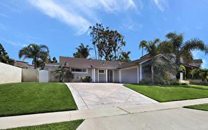 Bilder USA Gebäude Kalifornien Eigenheim Design Rasen Costa Mesa Städte