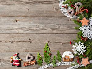 Hintergrundbilder Neujahr Backware Kekse Zimt Gebäude Bretter Ast Design Schneeflocken Herz Weihnachtsmann Lebensmittel