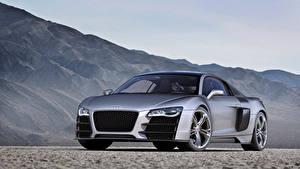 Bilder Audi Graue Metallisch R8 V12 TDI Concept, 2008 Autos