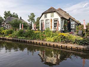 Hintergrundbilder Niederlande Haus Dorf Kanal Design Giethoorn Städte