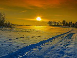 Hintergrundbilder Winter Sonnenaufgänge und Sonnenuntergänge Schnee Sonne