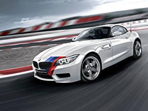Fotos BMW Weiß Bewegung Roadster 2014, E89 automobil