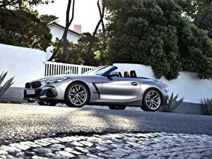 Hintergrundbilder BMW Silber Farbe Seitlich Roadster M40i Z4 2019 G29