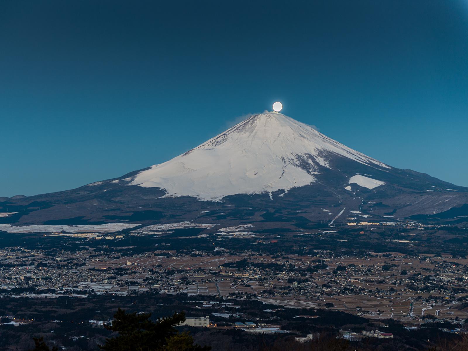 壁紙 1600x1200 山 富士山 日本 火山 月 自然 ダウンロード 写真