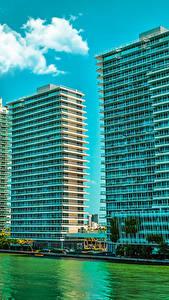 Fotos USA Haus Miami Florida Stadtstraße Bucht Städte