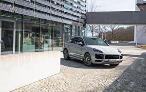 Bilder Porsche Graue Coupe Hybrid Autos Metallisch