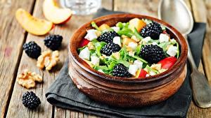 Hintergrundbilder Salat Brombeeren Schüssel