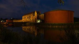 Bilder Schweden Burg Flusse Brücken Nacht Malmo Städte
