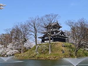 Pictures Japan Castles Parks Trees Takada Castle, Niigata