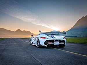 Bilder Koenigsegg Hinten Weiß Jesko Autos