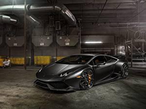 Fotos Lamborghini Schwarz Huracan LP 610-4