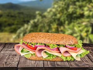 Fotos Fast food Sandwich Bretter