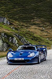 Fotos Porsche Blau Metallisch Bewegung  Autos
