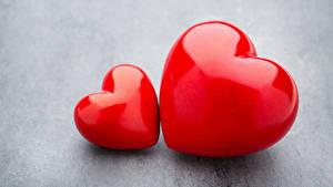 Papéis de parede Dia dos Namorados Fundo cinza Coração 2 Vermelho