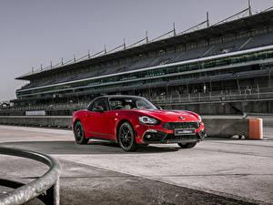 Hintergrundbilder Abarth Rot Metallisch 2018 124 GT Autos