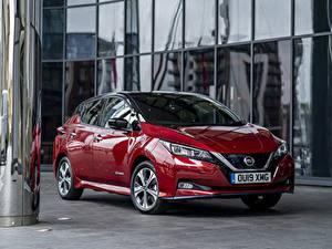 Pictures Nissan Maroon Metallic 2019 Leaf e automobile