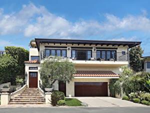 Bilder Vereinigte Staaten Haus Herrenhaus Design Garage Treppe Laguna Beach Städte