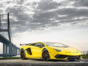 Fotos Lamborghini Gelb Aventador auto