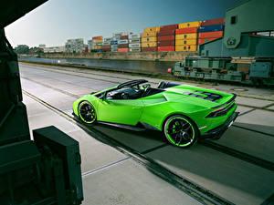 Hintergrundbilder Lamborghini Gelbgrüne Roadster Spyder Novitec Torado Huracan