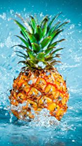 Bilder Ananas Wasser Spritzer