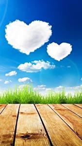Hintergrundbilder Himmel Bretter Wolke Herz Natur