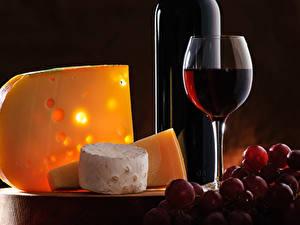Bilder Wein Weintraube Käse Weinglas Flasche das Essen