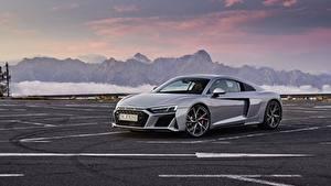 Bilder Audi Graue Metallisch Parkplatz R8 V10 2020 RWD auto