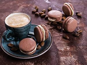 Fotos Kaffee Cappuccino Macaron Tasse Untertasse