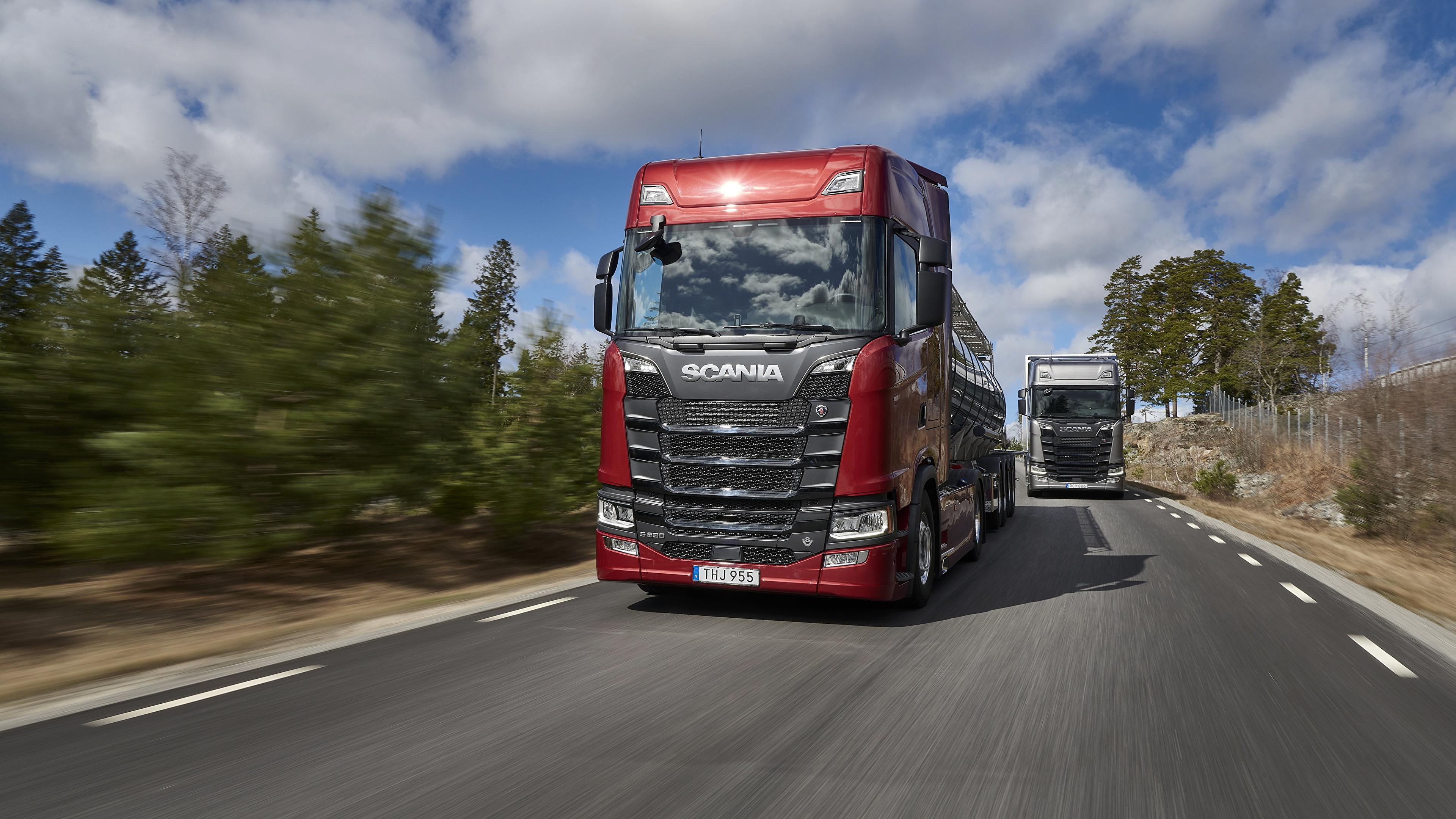 Fondos De Pantalla 3840x2160 Scania Camion S 650 Rojo