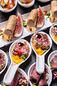 Hintergrundbilder Fast food Fleischwaren Süßigkeiten Löffel