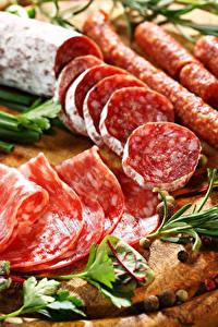 Bilder Fleischwaren Wurst Geschnitten