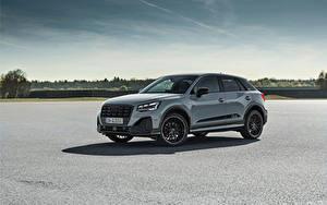 Hintergrundbilder Audi Softroader Grau Metallisch Seitlich Q2 35 TFSI S line, 2020 auto