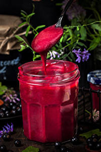 Hintergrundbilder Süßware Warenje Heidelbeeren Weckglas das Essen