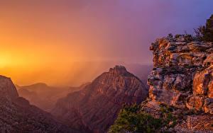 Fotos USA Grand Canyon Park Park Gebirge Sonnenaufgänge und Sonnenuntergänge Natur
