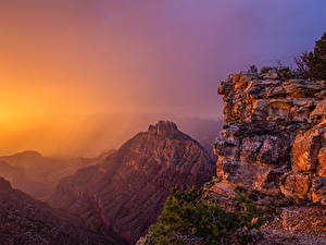 Image USA Grand Canyon Park Parks Mountains Sunrises and sunsets Nature