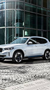 Fotos BMW Weiß Crossover Metallisch iX3, G08, Worldwide, 2020 Autos