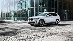 Fotos BMW Weiß Crossover Metallisch iX3, G08, Worldwide, 2020 Autos