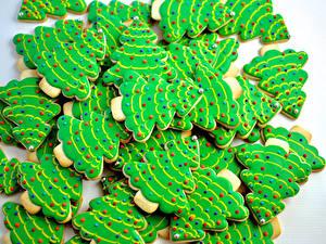 Hintergrundbilder Neujahr Kekse Grauer Hintergrund Design Tannenbaum Lebensmittel
