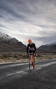 Bilder Gebirge Wege Fahrrad Geschwindigkeit